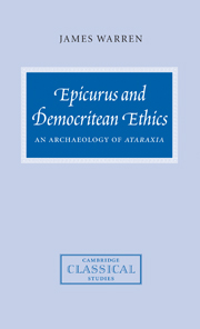 Epicurus and Democritean Ethics