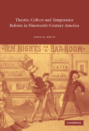 Theatre, Culture and Temperance Reform in Nineteenth-Century America