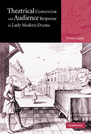 Theatrical Convention and Audience Response in Early Modern Drama