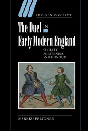 The Duel in Early Modern England