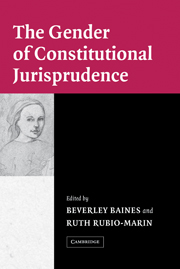 The Gender of Constitutional Jurisprudence