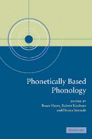 Phonetically Based Phonology