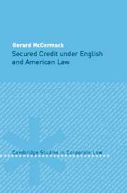 Secured Credit under English and American Law