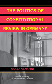 The Politics of Constitutional Review in Germany