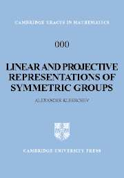 Linear and Projective Representations of Symmetric Groups