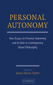 Personal Autonomy