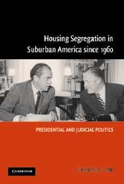 Housing Segregation in Suburban America since 1960