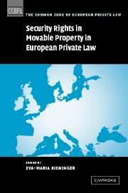 Security Rights in Movable Property in European Private Law