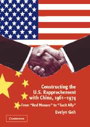 Constructing the U.S. Rapprochement with China, 1961–1974