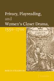 Privacy, Playreading, and Women's Closet Drama, 1550–1700