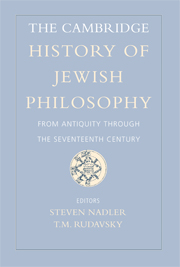 The Cambridge History of Jewish Philosophy