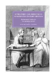 Literature and Medicine in Nineteenth-Century Britain
