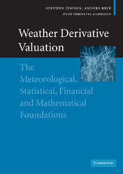 Weather Derivative Valuation