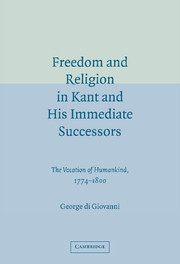 Freedom and Religion in Kant and his Immediate Successors
