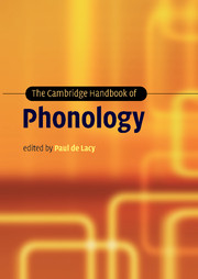 The Cambridge Handbook of Phonology