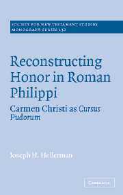 Reconstructing Honor in Roman Philippi