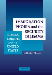 Immigration Phobia and the Security Dilemma
