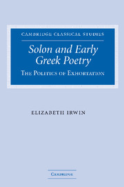 Solon and Early Greek Poetry
