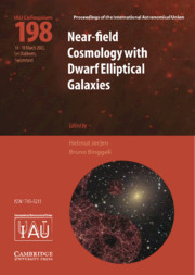 Near-Field Cosmology with Dwarf Elliptical Galaxies (IAU C198)