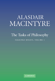 The Tasks of Philosophy