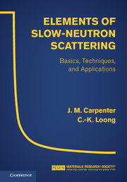 Elements of Slow-Neutron Scattering