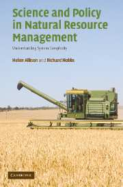 Science and Policy in Natural Resource Management