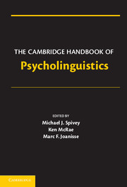 The Cambridge Handbook of Psycholinguistics