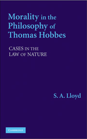 Morality in the Philosophy of Thomas Hobbes