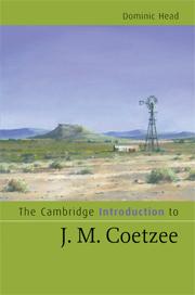 The Cambridge Introduction to J. M. Coetzee