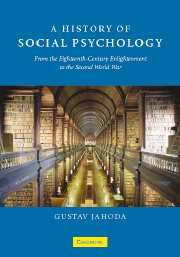 A History of Social Psychology