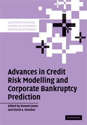 Advances in Credit Risk Modelling and Corporate Bankruptcy Prediction