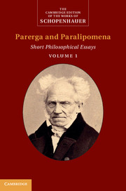 Schopenhauer: Parerga and Paralipomena