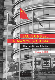Factions and Finance in China