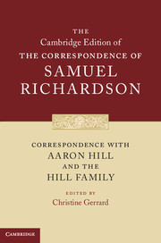 Correspondence with Aaron Hill and the Hill Family
