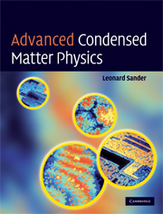 Advanced Condensed Matter Physics