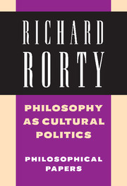 Philosophy as Cultural Politics