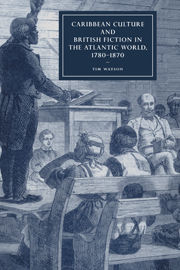 Caribbean Culture and British Fiction in the Atlantic World, 1780–1870