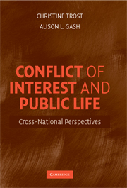 Conflict of Interest and Public Life