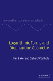Logarithmic Forms and Diophantine Geometry