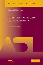 Subsystems of Second Order Arithmetic