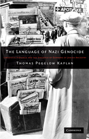 The Language of Nazi Genocide
