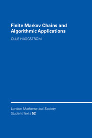 Finite Markov Chains and Algorithmic Applications