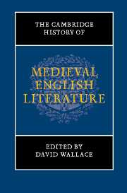 The Cambridge History of Medieval English Literature
