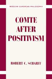 Comte after Positivism