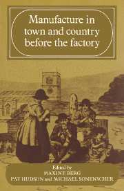 Manufacture in Town and Country Before the Factory