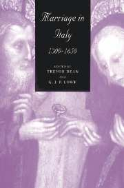 Marriage in Italy, 1300–1650