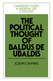 The Political Thought of Baldus de Ubaldis