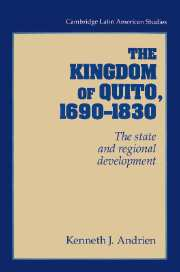 Latin america colonial times latin american history cambridge the kingdom of quito 16901830 fandeluxe Gallery