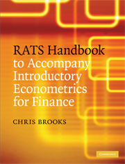 RATS Handbook to Accompany Introductory Econometrics for Finance