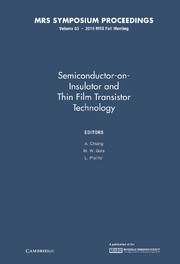 Semiconductor-on-Insulator and Thin Film Transistor Technology